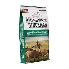 easy flow stock salt, american stockman bag.