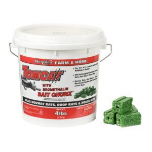 TomCat Bait Chunx 4 lb pail, green chunks.