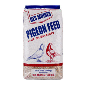des moines pigeon feed air cleaned, 50 lbs
