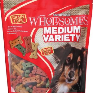 red bag of medium variety dog biscuits, 4 lbs.