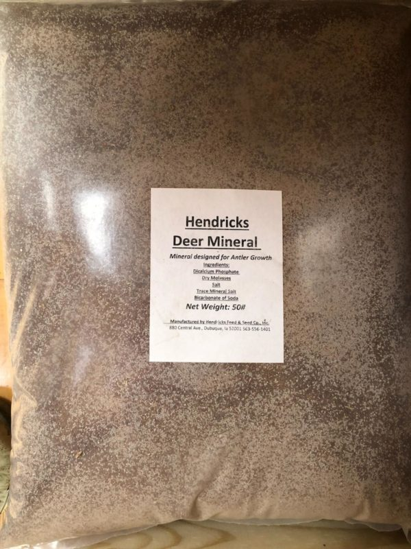 bag of hendricks deer mineral.