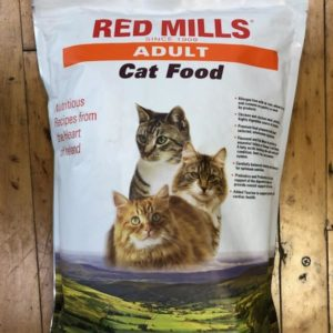 red mills adult cat food, 5 lb bag