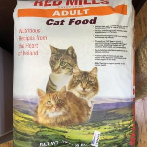 red mills adult cat food, 15 lb bag