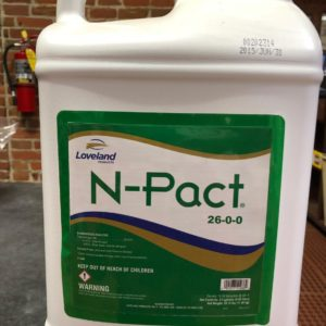 N-PACT liquid fertilizer bottle, 2.5 gallons