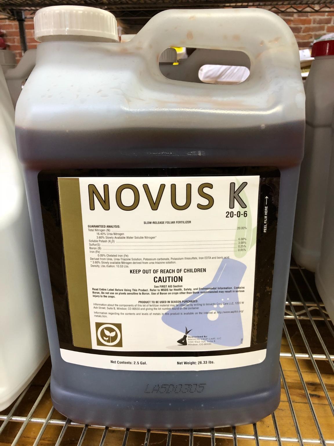 Novus 20 0 6 Liquid Fertilizer Hendricks Feed Amp Seed Co