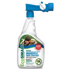 eco smart organic mosquito tick killer in trigger sprayer white bottle